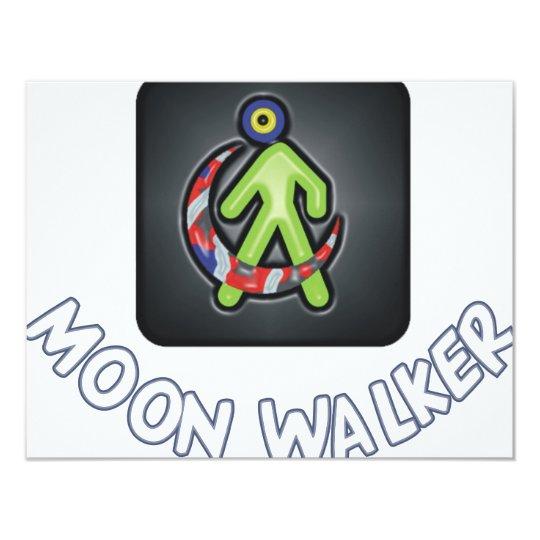 Moonwalker 11 Cm X 14 Cm Invitation Card