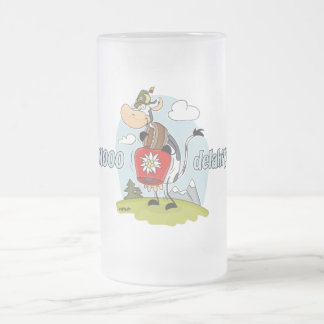 """MOOO-delahiti"" Frosted Glass Beer Mug"