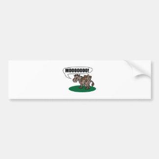 Moooooo Bumper Stickers