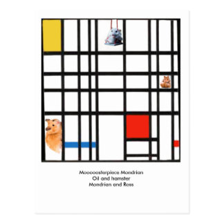Moooooosterpiece Mondrian Postcard