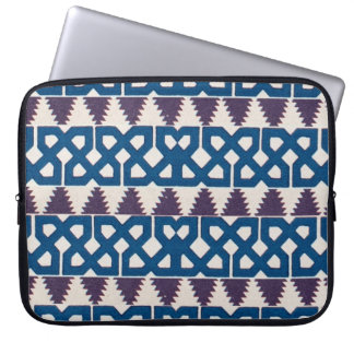 Moor African Arabic Pattern Design Blue Purple Laptop Computer Sleeves