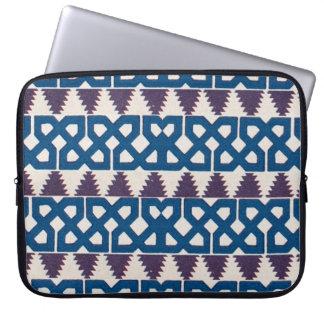 Moor African Arabic Pattern Design Blue Purple Laptop Sleeve