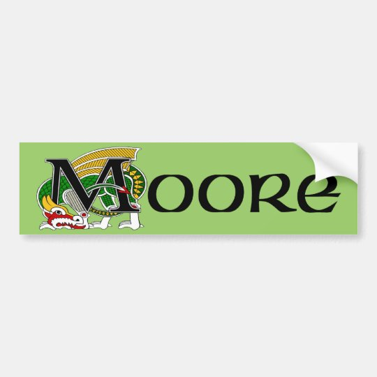 Moore Celtic Dragon Bumper Sticker