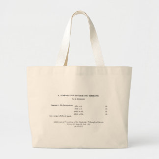 Moore-Penrose definitions Tote Bag
