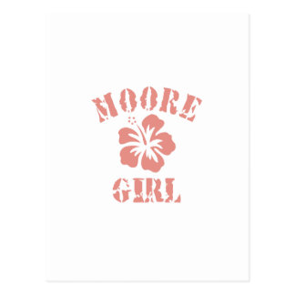 Moore Pink Girl Postcard