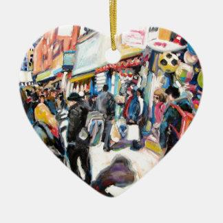 moore street dublin beach balls ceramic heart decoration