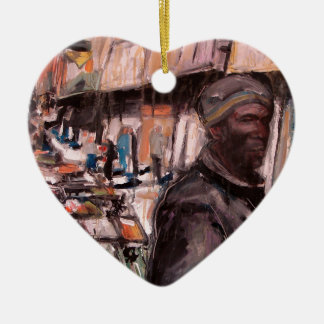 moore street dublin shopper ceramic heart decoration