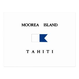 Moorea Island Tahiti Alpha Dive Flag Postcards