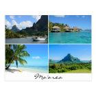 Moorea landscapes collage text postcard