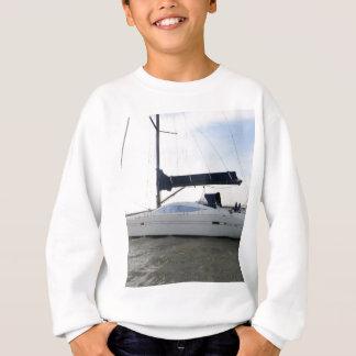 Moored Sailboat At Dawn Sweatshirt
