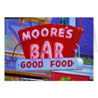 Moore's Bar Retro sign, Greencastle, Indiana Card
