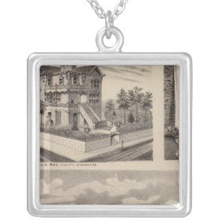 Moorhead Clay County, Minnesota Silver Plated Necklace