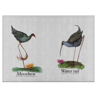moorhen, water rail, tony fernandes cutting board