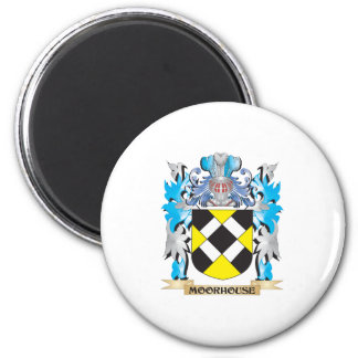Moorhouse Coat of Arms - Family Crest 6 Cm Round Magnet