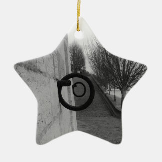 Mooring rings on the Seine. Christmas Ornament