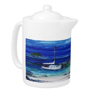Mooring Up Boating Teapot