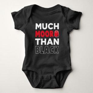 Moorish American African Much Moor Than Black Baby Bodysuit