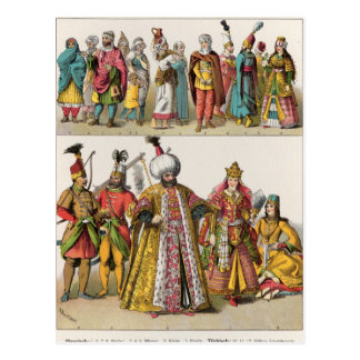 Moorish and Turkish Dress Postcard