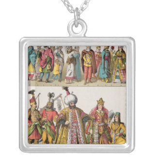 Moorish and Turkish Dress Silver Plated Necklace
