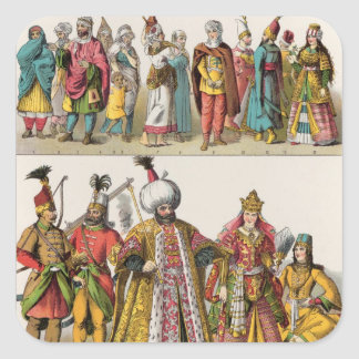 Moorish and Turkish Dress Square Sticker