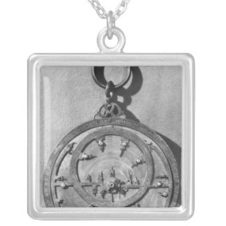 Moorish astrolabe, from Cordoba, 1054 Square Pendant Necklace
