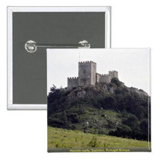 Moorish castle, Sesimbra, Portugal Europe Pinback Button