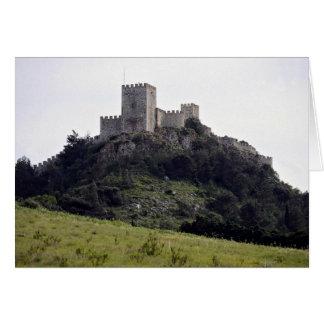 Moorish castle, Sesimbra, Portugal Europe Greeting Card