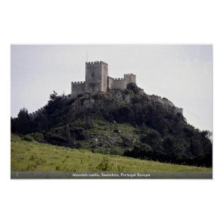 Moorish castle, Sesimbra, Portugal Europe Posters