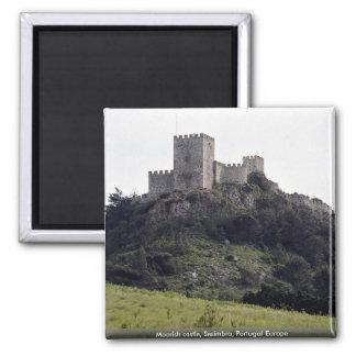 Moorish castle, Sesimbra, Portugal Europe Square Magnet