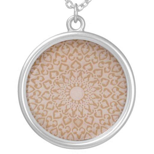 Moorish Islamic Arabic decorative  design Personalized Necklace