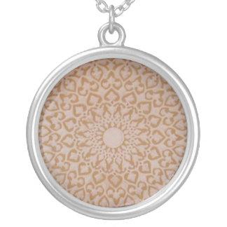 Moorish Islamic Arabic decorative  design Round Pendant Necklace