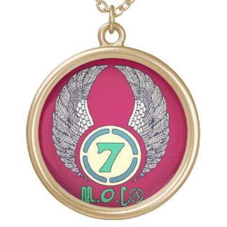 Moorish Orthodox Church Symbol Round Pendant Necklace