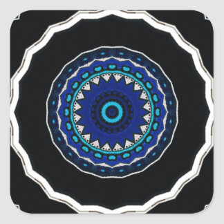 Moorish Ottoman tile Floral Star design Stickers