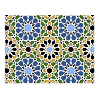 Moorish tile 2012 Calendar Postcard