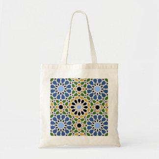 Moorish tile tote bags