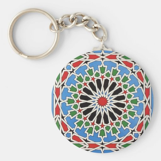 Moorish tile key chains