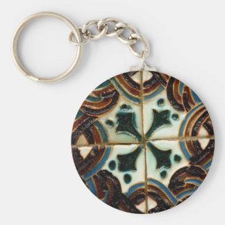Moorish tile keychain