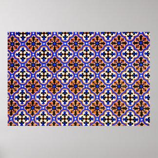 Moorish tile The Alhambra Spain Print