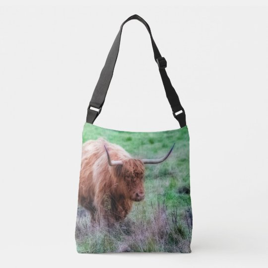 Moorland cow photography crossbody bag