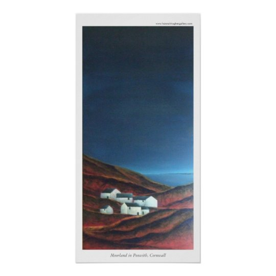 Moorland in Penwith, Cornwall Poster