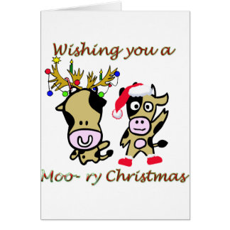 Moory christmas greeting card