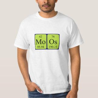 Moos periodic table name shirt