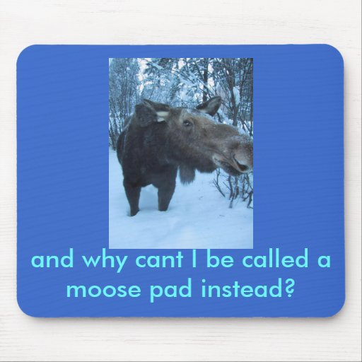 moose2, and why cant I be called a moose pad in... Mouse Pads