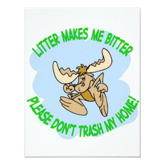 moose 11 cm x 14 cm invitation card