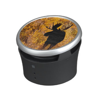 Moose (Alces Alces) Bull In Golden Willows 2 Bluetooth Speaker