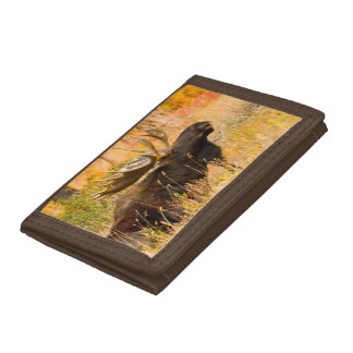 Moose (Alces Alces) Bull In Golden Willows Trifold Wallet
