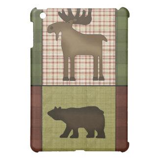 Moose and Bear Rustic Lodge Look Cabin Critters iPad Mini Case