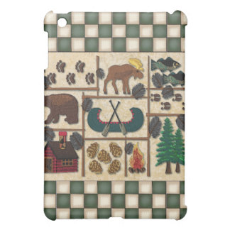 Moose and Bear Rustic Lodge Look Cabin Critters Case For The iPad Mini