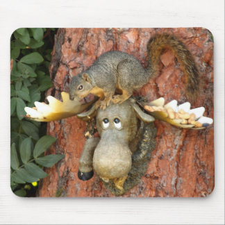 Moose and Squirrel Mousepad