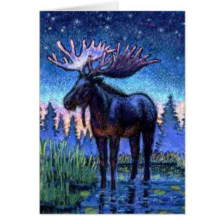 Moose At Dawn Card